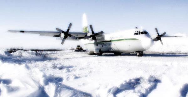 Cargo plane in Alaska