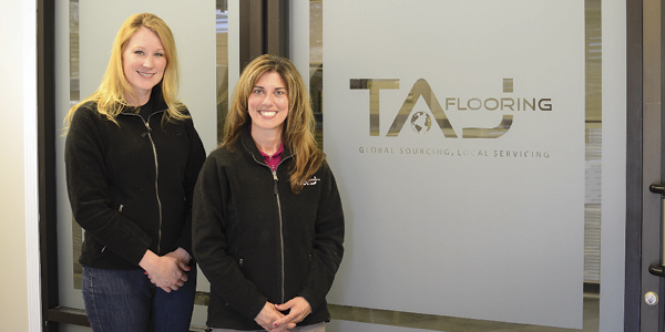 TAJ Flooring executives Julie Kyle and Denise Johnson