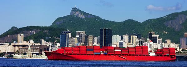 Container ship in Rio de Janeiro