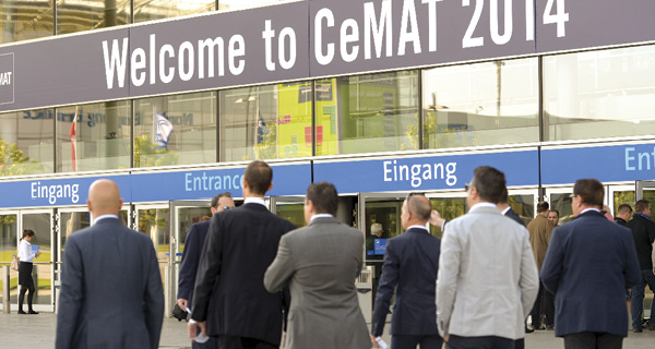 CeMAT 2014 attendees approach the trade show entrance