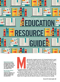 Logistics and Supply Chain Education Resource Guide Cover