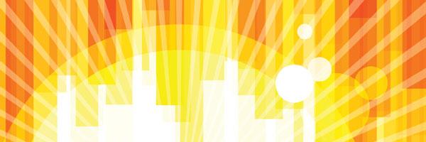 Stylized sunburst illustration