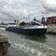 A barge in the locks at Belgium's Port of Antwerp