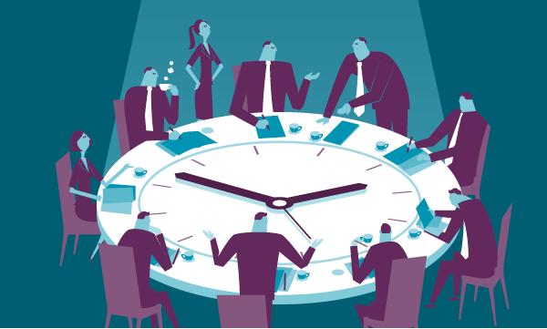 Illustration of supply chain planning team