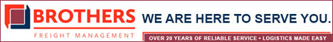 Brothers Freight Management banner ad