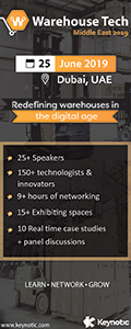 Warehouse Tech Middle East 2020 banner ad
