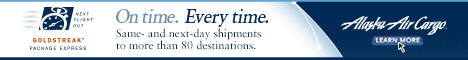 Alaska Air Cargo Banner Ad