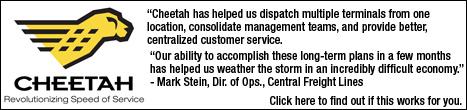 Cheetah Logistics Banner Ad