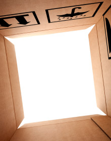 Inside of a box