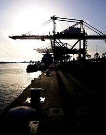 Ocean Port at Sunset