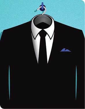 Suit on a hanger illustration