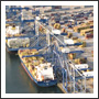Ocean Carriers in Port Readying for Transload
