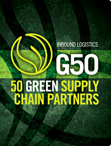 Cover of the Inbound Logistics Top 50 Green Supply Chain Partners