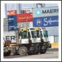 Cargo port with trucks