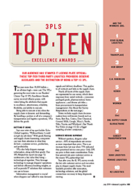 2019 Top 10 3PL Excellence Awards Cover