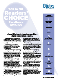 Reader's Choice: Top 10 3PL Excellence Awards Cover