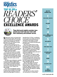 Readers' Choice: Top 10 3PL Excellence Awards Cover