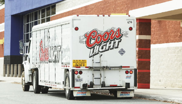 Coors Light delivery truck