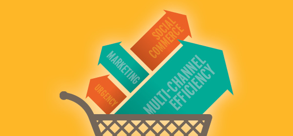 Retail trends including social commerce, multi-channel efficiency, marketing